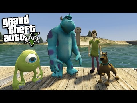 GTA 5 Mods - SCOOBY DOO VS MONSTERS INC MOD (GTA 5 Mods Gameplay)