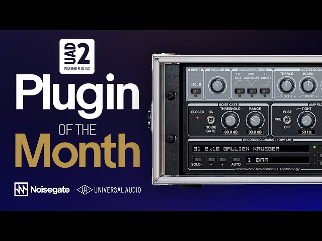 UAD-2 Plugin of the Month: Gallien-Krueger 800RB Bass Amp Plug-In