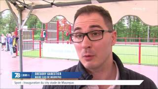 Sport : inauguration du City stade à Maurepas