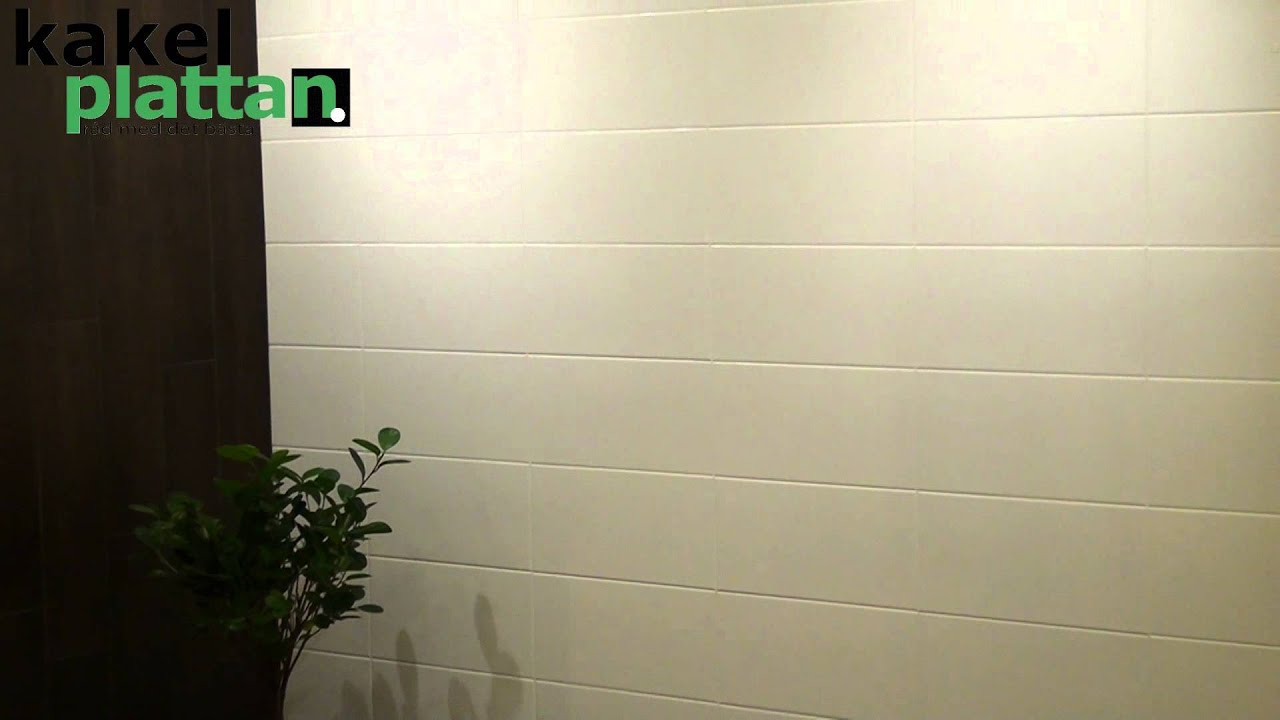 Kakel från Kakelplattan.se Noto Vit Matt 20x40 - YouTube