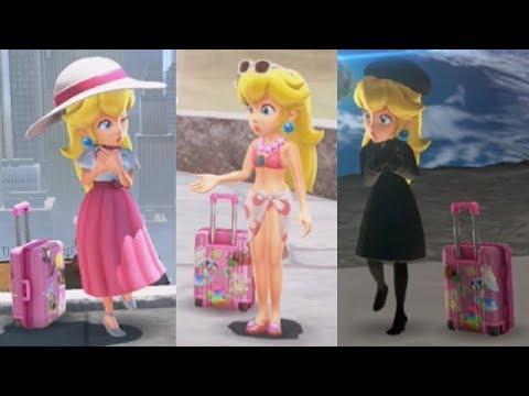 Super Mario Odyssey All Peach Locations Power Moons