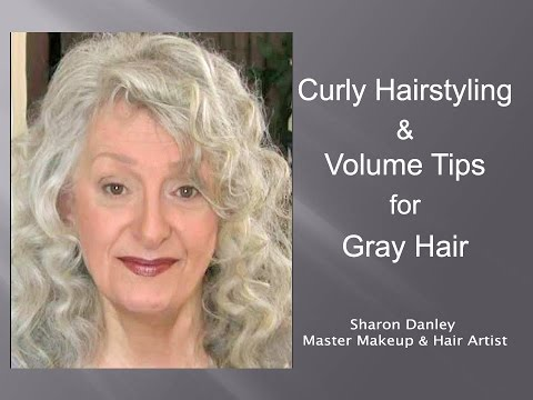 Curly Hairstyling Amp Volume Tips For Gray Hair Youtube