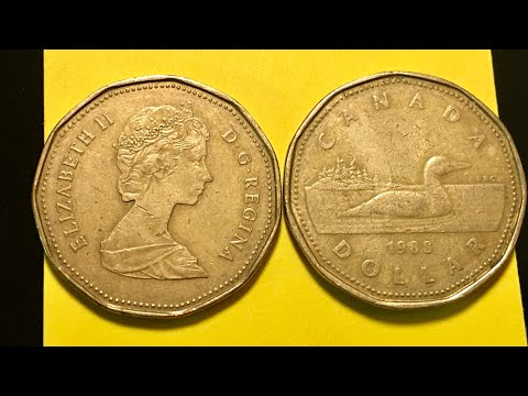 1988 Canada Dollar Coin - Loonie Year 2