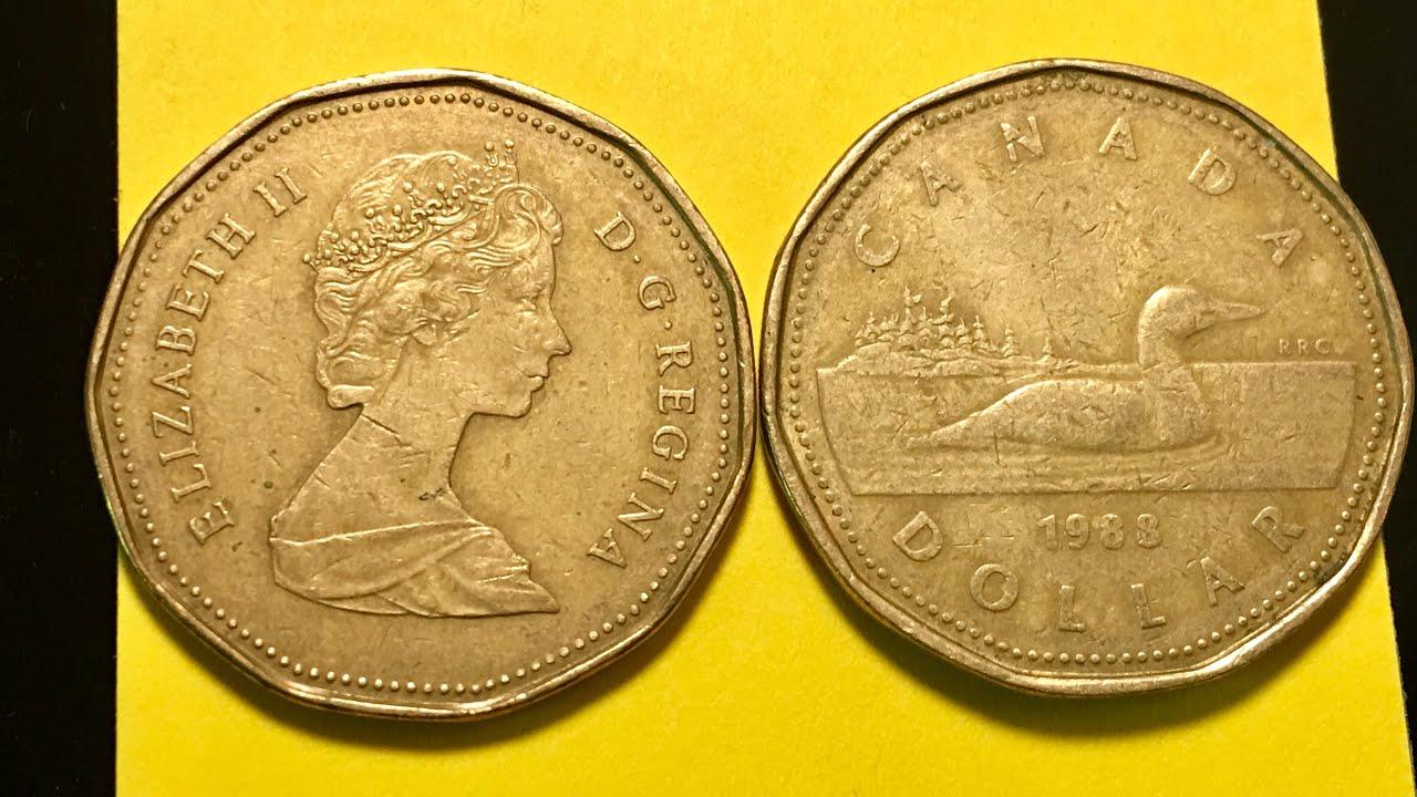 1988 Canada Dollar Coin Loonie Year 2