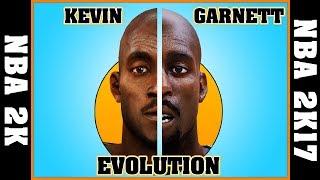 KEVIN GARNETT evolution [NBA 2K - NBA 2K17]