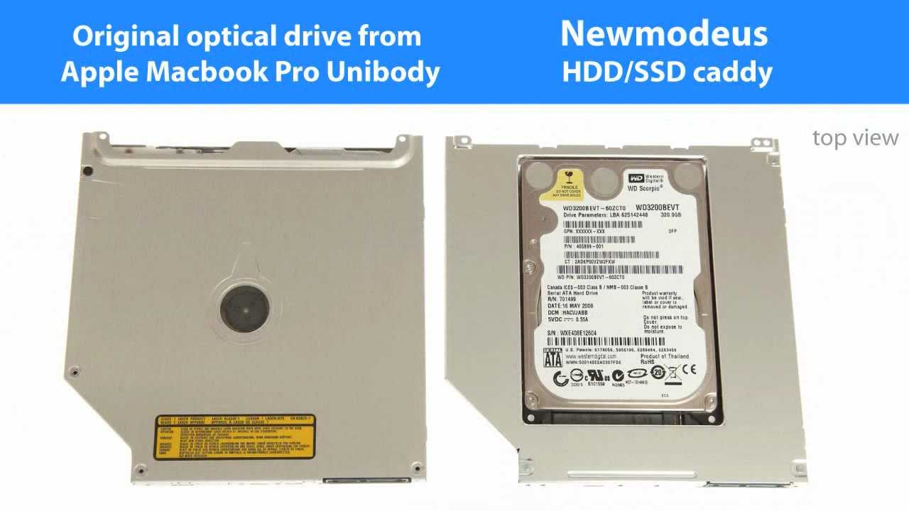 2nd Hard Drive / SSD caddy adapter for Macbook Pro Unibody