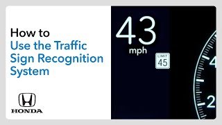 homepage tile video photo for How to Use Traffic Sign Recognition (TSR)