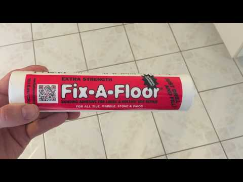 how to fix loose hollow tile floors