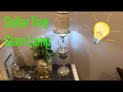 💎💡Glam Dollar Tree Lamp DIY💡💎