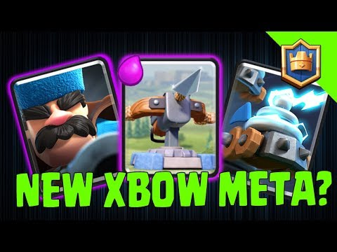 HUNTING SEASON IS HERE! XBOW HUNTER ZAPPIES DESTROYING THE META! - Clash Royale