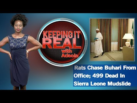 Keeping It Real With Adeola - 276 (Rats Chase Buhari From Office; 499 Dead In Sierra Leone Mudslide)