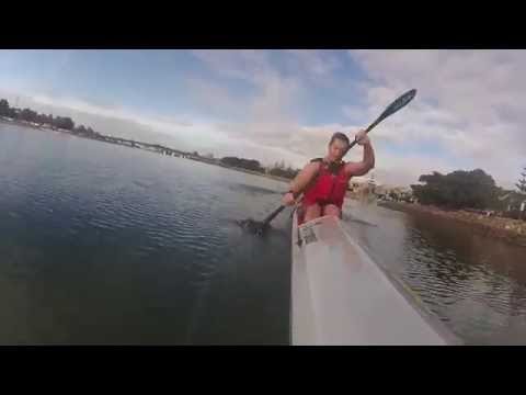 Paddling in Newcastle (NSW) Harbour