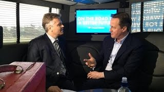 "David Cameron: ""I have been nervous all the way through this election campaign,"""
