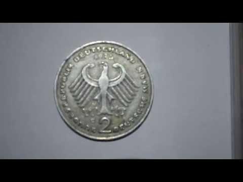 Two Deutsche Mark 1975 metal