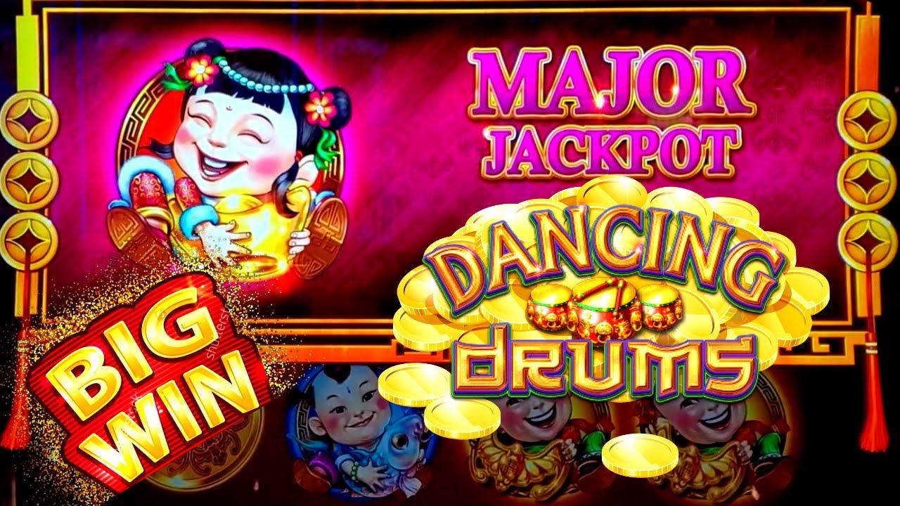 Dancing Drums Slot Machine Huge Win Major Jackpot Won