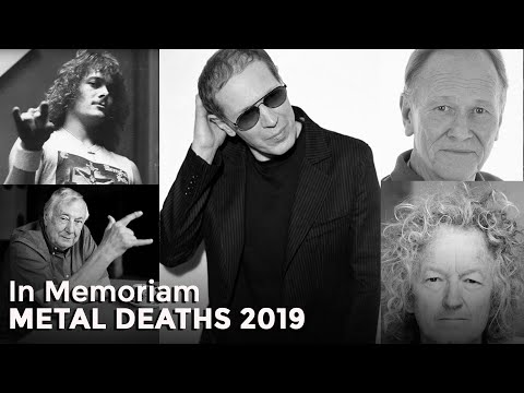 In Memoriam, Rock and Metal Deaths 2019