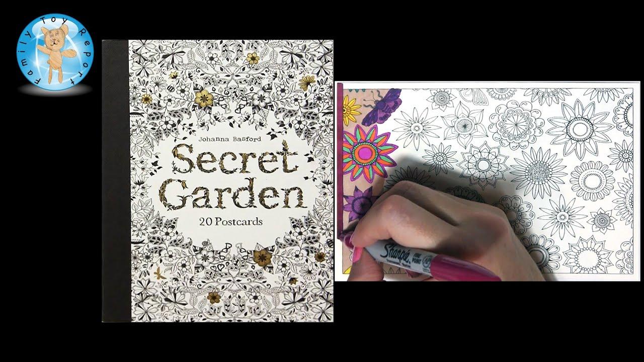 Secret Garden By Johanna Basford Adult Coloring Book Postcards Floral