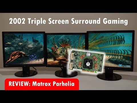 Matrox Parhelia Triple Screen Surround Gaming from 2002
