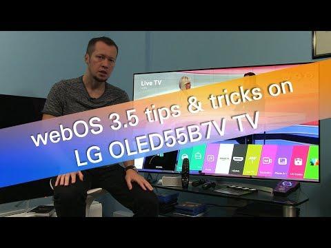 LG webOS 3.5 tips and tricks on OLED55B7 UHD OLED TV