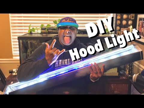 HOW TO: DIY CHEAP And EASY LED Aquarium Hood Light