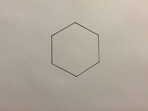 Comment Dessiner Un Hexagone - How To Draw An Hexagon.