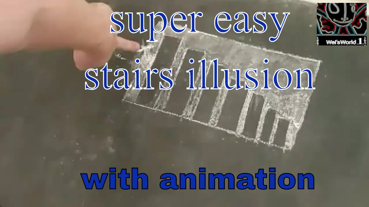 how to draw stairs illusion