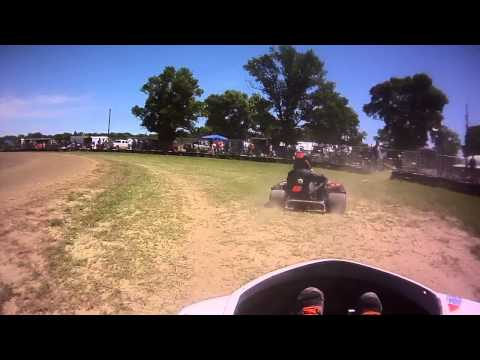 6/8/14 gokart hot laps in Emmetsburg, Iowa