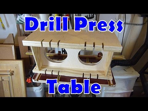 Drill Press Auxiliary Clamping Table – A DIY woodworking jig.