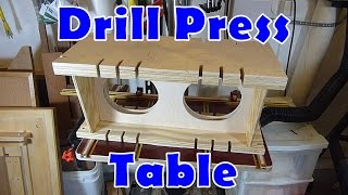 Drill Press Auxiliary Clamping Table - A DIY woodworking jig.