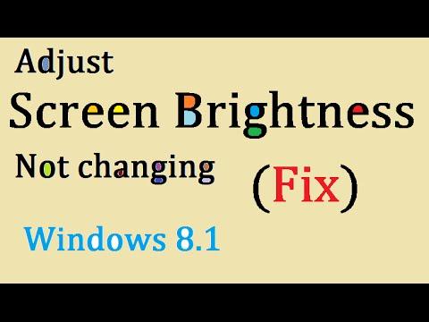 Windows 8.1 How to turn off auto brightness | Doovi