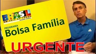 URGENTE Bolsonaro fala sobre o bolsa família