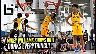 Mike Williams Demolishes The Competition & DUNKS EVERYTHING!! Compton Magic 15U DOMINATE!!