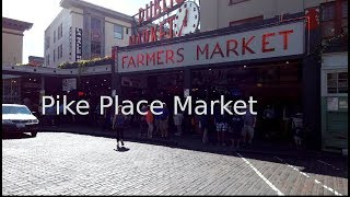 Pike Place Market, Afternoon Vs Morning (binaural audio)