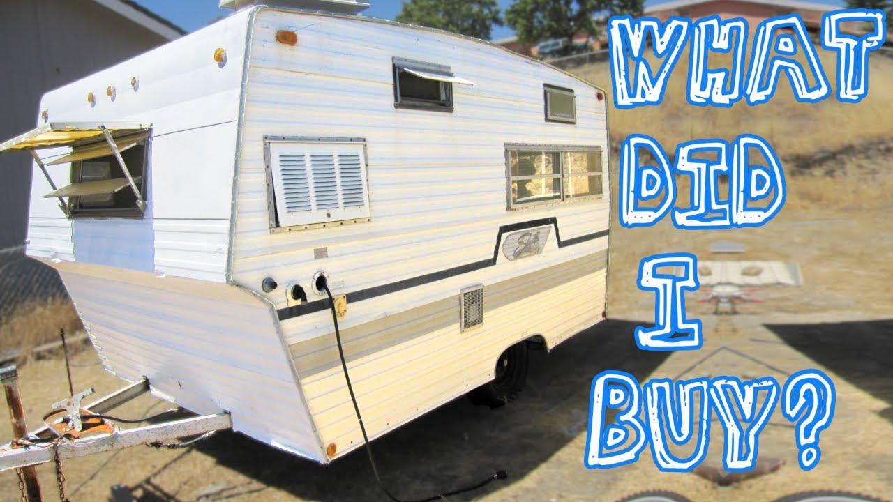 vintage shasta camper trailer restoration part 1 assesment [ 1280 x 720 Pixel ]