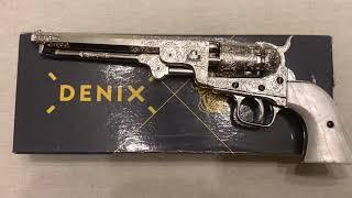 Револьвер Кольт морского флота серебро, American Civil War Colt Navy Revolver, USA 1851, Denix 6040