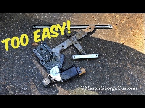 How to C3 Corvette Power Window Regulator Replacement Easy