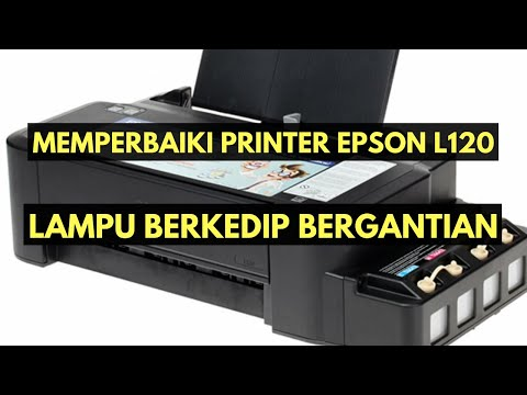 L120 Epson Printer Error Blinking Lamp together.