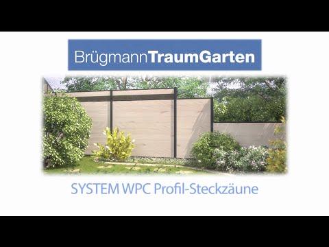 Traumgarten Aufbauvideo Zaunaufbau System Wpc Youtube
