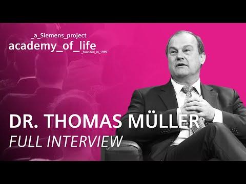 Dr. Thomas Müller zu Gast bei der Siemens Academy of Life (ungeschnitten)