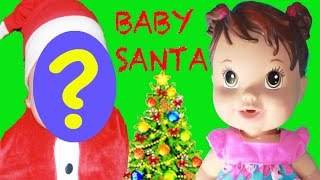 BABY SANTA! Baby Alive Christmas Video Doll Opens Christmas Presents NICKELODEON Paw Patrol TOYS