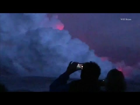RAW VIDEO: Lava Bomb Hits Hawaii Tour Boat