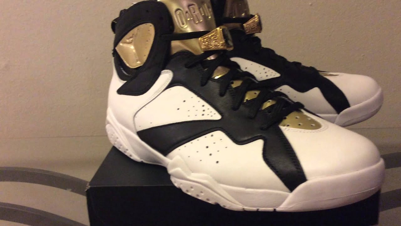 Nike Air Jordan VII 7 Retro C&C CHAMPAGNE CHAMPIONSHIP PACK WHITE BLACK GOLD 9.5