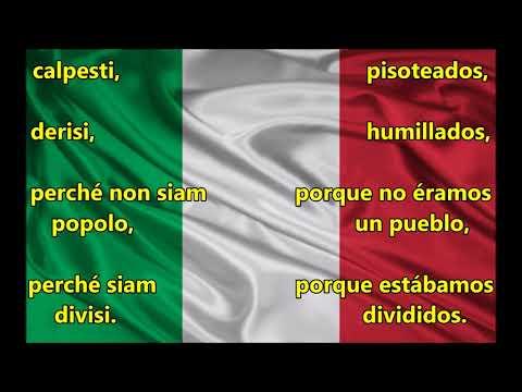 Himno Italiano - Letra Español- Italiano