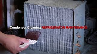 Turbo air's Self Cleaning Condenser Brush