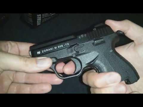 Zoraki 906 9mm Black ( Stalker & Сталкер cal  380 ACP Auto ) / 9x17mm /  Blank Gun - Test Gunfire