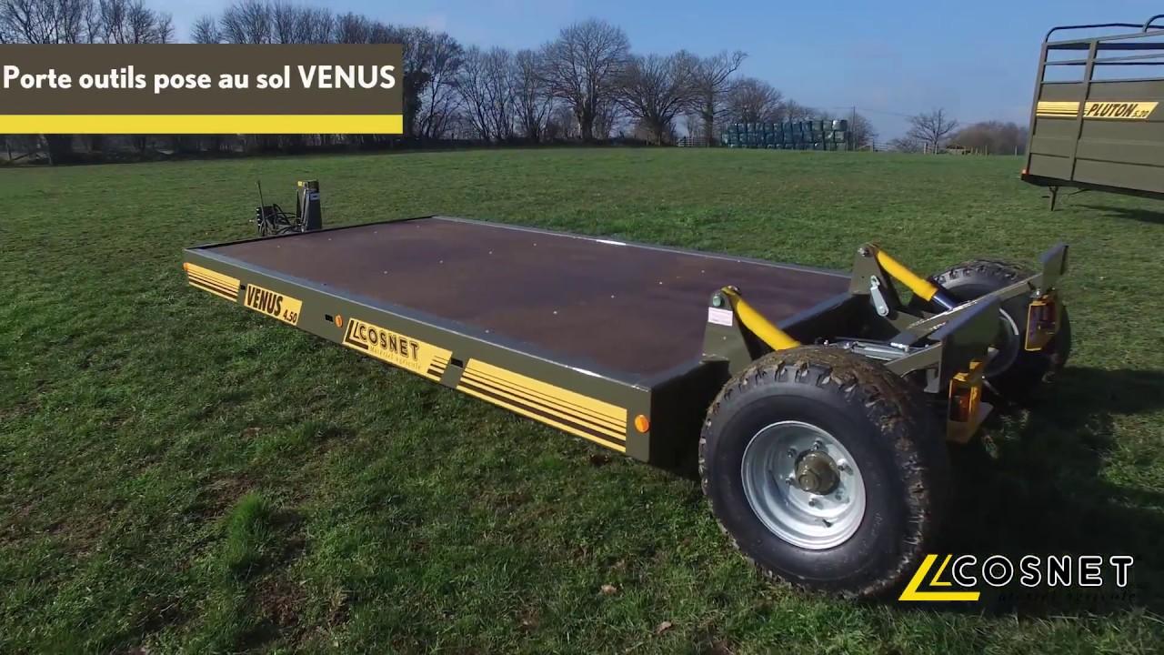 Cosnet agricole porte outils pose au sol venus youtube - Remorque porte outil agricole ...