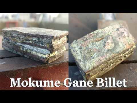 Mokume Ganne Billet Brass Copper & Nickel