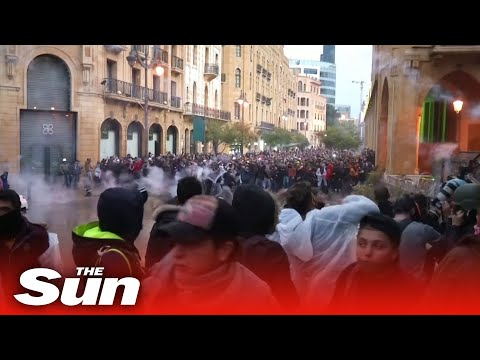 Anti-government protests turn violent in Lebanese capital Beirut