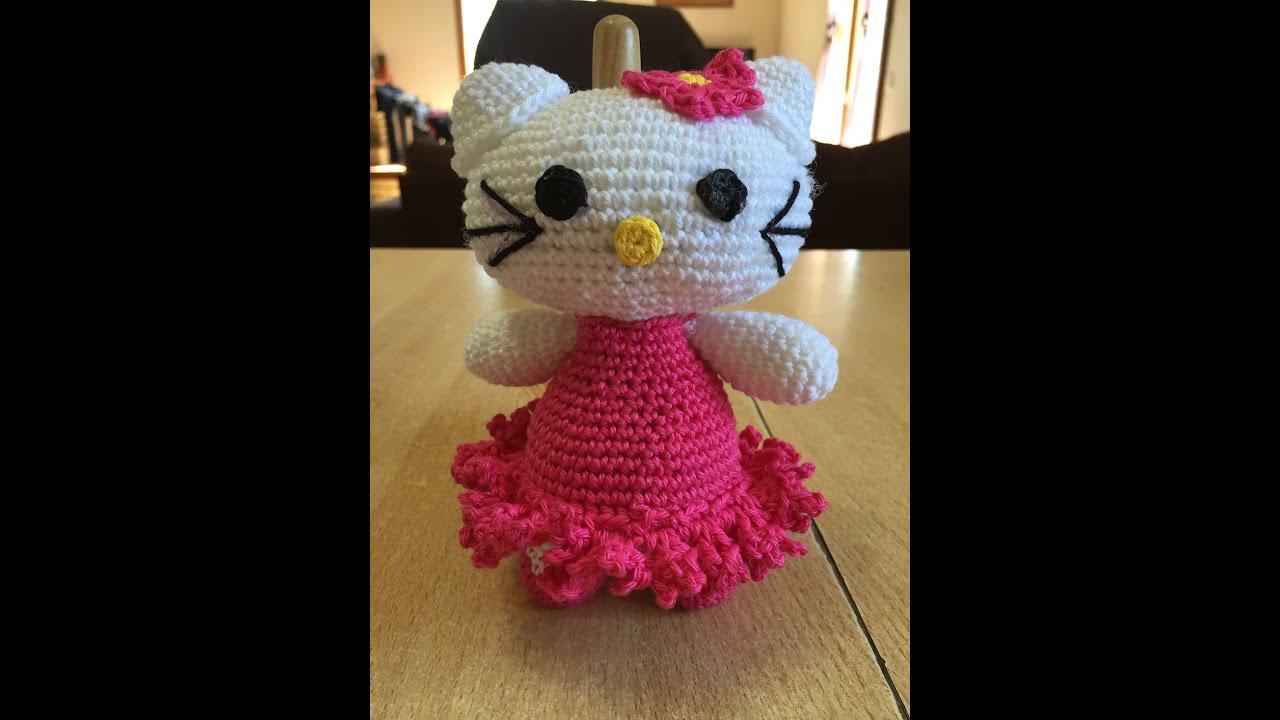 Tuto hello kitty spécial gaucher au crochet 1 2 youtube