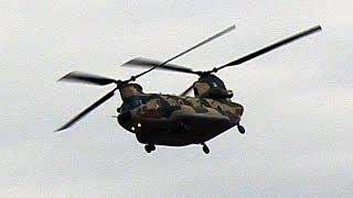 2018年5月17日に三沢基地で撮影した航空自衛隊 CH-47J チヌークの動画で...